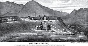 Fort Cumberland (Maryland) - Fort Cumberland, 1755 (1878)