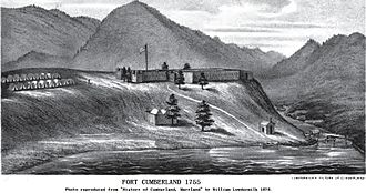 Wills Creek (North Branch Potomac River tributary) - Fort Cumberland, 1755