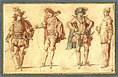 Four Commedia dell'Arte Figures claude-gillot.jpg