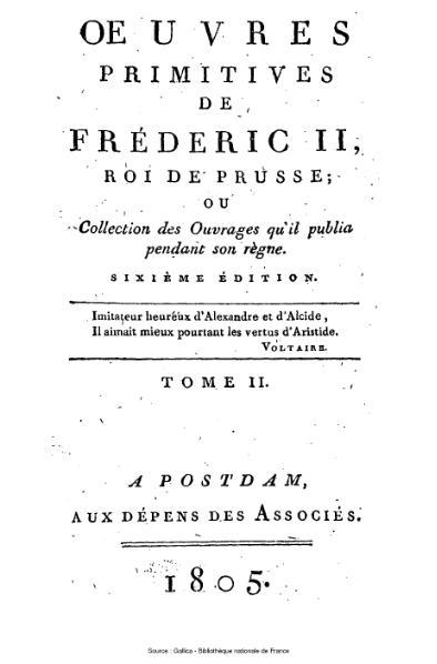 File:Frédéric II de Prusse - Œuvres primitives, tome 2.djvu