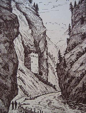 Seewis im Prättigau - Image: Fracstein 1830