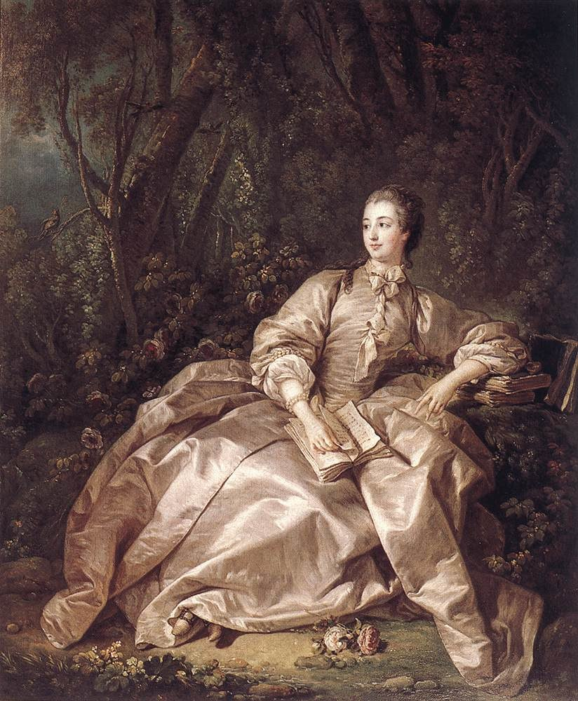 Fran%C3%A7ois Boucher, Madame de Pompadour, Mistress of Louis XV (1758)