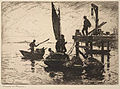 Frank W. Benson, Boats at Dawn, 1920.jpg