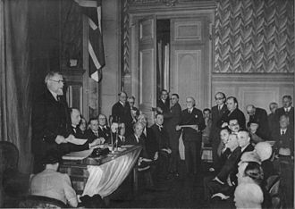 Belgian government in exile - Frans Van Cauwelaert, President of the Chamber in France, June 1940. He would spend the war away from the rest of the government, in New York City.