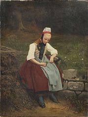 Peasant Girl in Hessian Costume