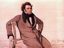 Franz Schubert im Mai 1825,Aquarell von Wilhelm August Rieder,unten signiert von Rieder und Schubert (Quelle: Wikimedia)