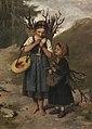 Franz von Defregger Die kleinen Reisigsammlerinnen 1872.jpg
