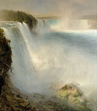 Niagara Falls, from the American Side - Image: Frederic Edwin Church Niagara Falls, from the American Side Google Art Project