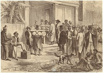 Reconstruction era - Freedmen voting in New Orleans, 1867