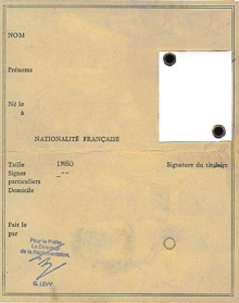 National Identity Card France Wikipedia