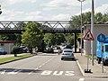 Fridolinsbrücke — Grenzabfertigung von Schweizer Seite.JPG
