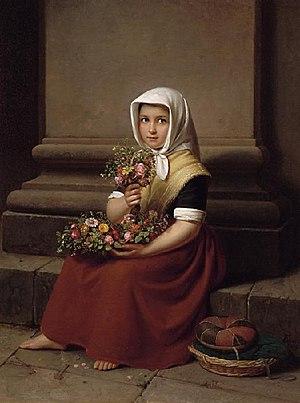 Friedrich Boser - Flower Girl