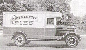 Frisbie Pie Company - Frisbie's pies 1920s delivery truck