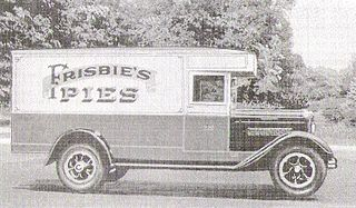 Frisbie Pie Company 1871 company from Bridgeport, Connecticut