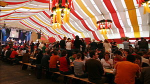 Stuttgart Spring Festival - Inside the Stuttgarter Hofbräu Beer Tent