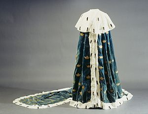 Swedish coronation robes - Swedish princely mantle from 1772.