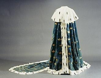 Swedish coronation robes - Swedish princely mantle from 1772.