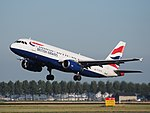 G-EUYD British Airways Airbus A320-232 cn3726 takeoff from Schiphol (AMS - EHAM), The Netherlands pic1.JPG