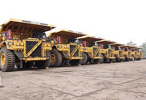 Korba Coalfield - Dumpers in Gevra mine