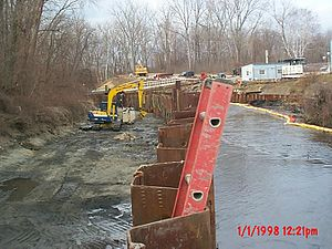 Housatonic River - Cleanup activity at one of the GE Pittsfield plant Superfund sites.