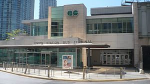 Union Station Bus Terminal - Image: GO Transit USBT temp