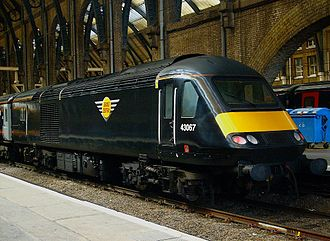 Grand Central (train operating company) - 43067 at King's Cross in the original livery in February 2009