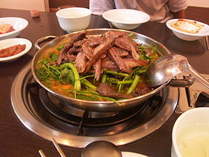 A dish made with dog meat in South Korea