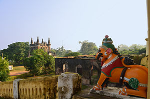 Dhenkanal State - View of Gajlaxmi Palace.