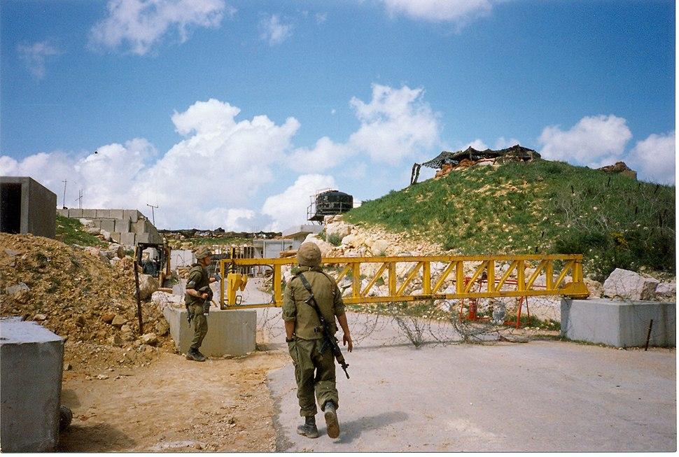 Galagalit IDF military barricade south lebanon