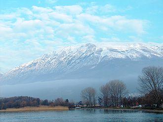 Galičica - Galičica Mountain from St. Naum Monastery