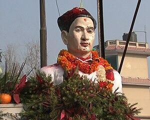 Gangalal Shrestha - A bust of Late Martyr Gangalal Shrestha built in memory of him.