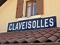 Gare de Claveisolles - Panneau Claveisolles (sept 2018).jpg