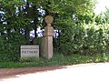 Gate post at Bowls cross, the start of the Poltimore estate - geograph.org.uk - 1281827.jpg