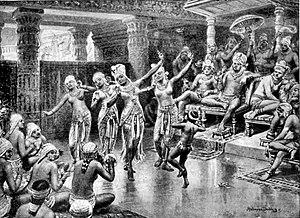 Gautamiputra Satakarni - A 19th century artist's imagination of Gautamiputra Satakarani celebrating his victory over Nahapana