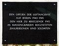 Gedenktafel Scharnhorststr 32 (Mitte) Kriegsopfer.jpg