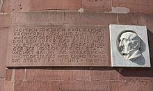 Gedenktafel an der Paulskirche in Frankfurt (Quelle: Wikimedia)