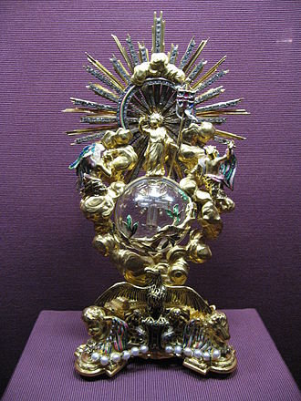Pax (liturgical object) - Rococo pax of 1726, for the Imperial Chapel of the Hofburg Palace in Vienna; by this time paxes were largely out of use in ordinary churches
