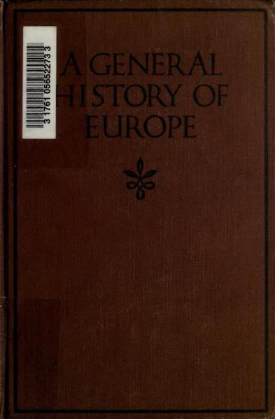 File:General History of Europe 1921.djvu