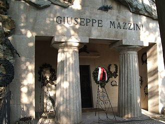 Giuseppe Mazzini - Mausoleum of Mazzini in the Staglieno cemetery of Genoa