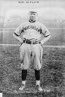 George Sisler American baseball player and coach