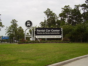 English: Rental Car Center - George Bush Inter...