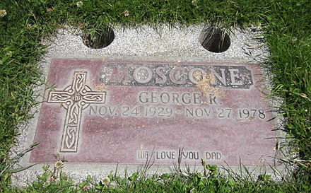 Moscone's grave at Holy Cross George Moscone grave.JPG