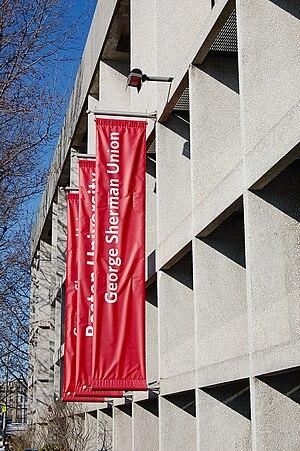 George Sherman Union - Concrete facade of the George Sherman Union