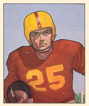 George Thomas (American football) - Thomas on a 1950 Bowman football card