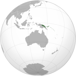 German New Guinea in 1914 before the outbreak of World War I