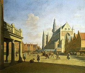 View of the Grote Markt in Haarlem from the City Hall