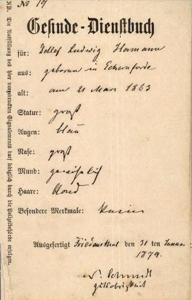File:Gesinde-Dienstbuch Detlef Hamann.djvu