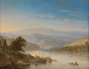 View of the Rijn river near Andernach
