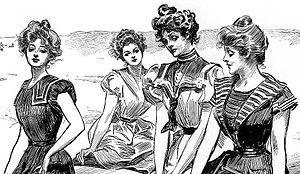 Gibson Girl - Gibson Girls at the beach