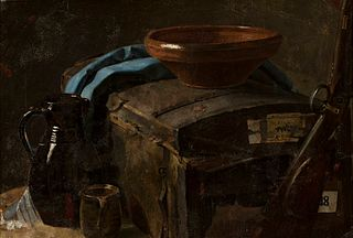 Still-life with a coffer.
